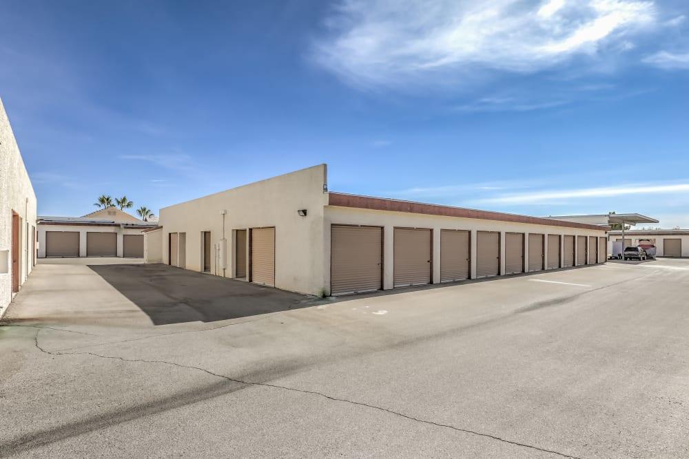 Convenient drive-up storage at Crown Self Storage in North Las Vegas, Nevada