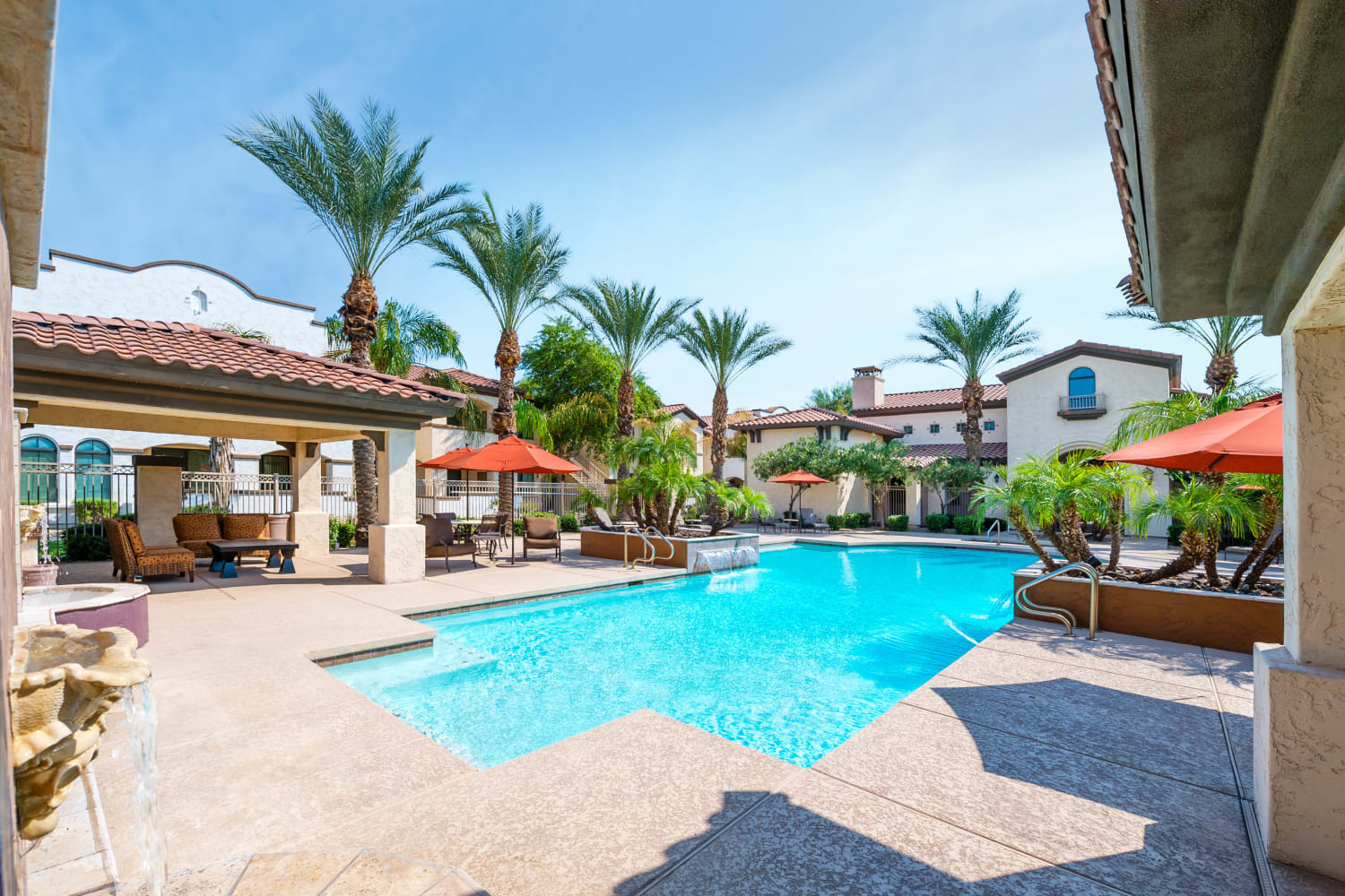 Enjoy apartments with a swimming pool at Dobson 2222 in Chandler, Arizona