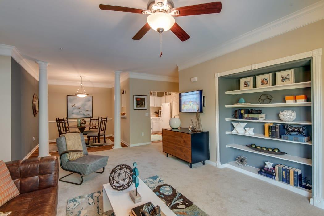 Legacy at Meridian showcase a beautiful living room in Durham, North Carolina
