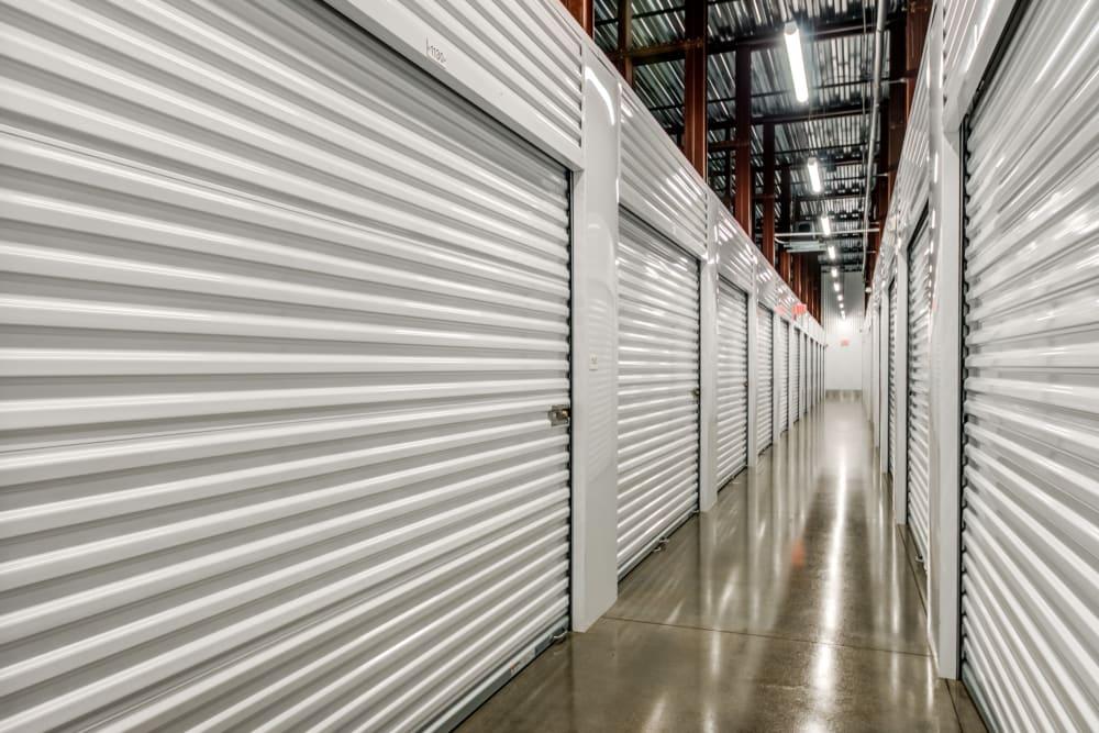 Indoor hallway access to storage units at Metro Self Storage in Doylestown