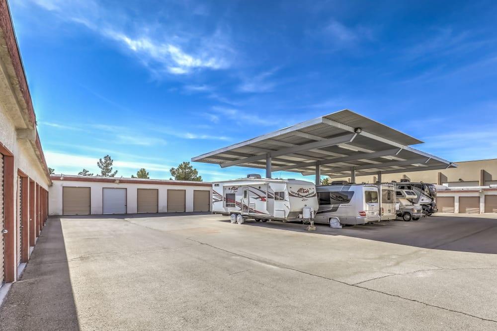 RV and Boat storage at Crown Self Storage in North Las Vegas, Nevada