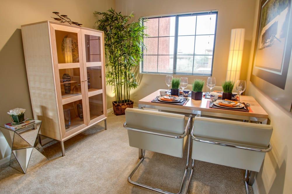 Cute modern dining area at Oro Vista Apartments in Oro Valley, Arizona