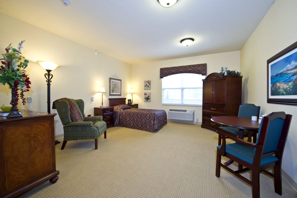 Bedroom at Senior Living Facility in Greenville, Ohio