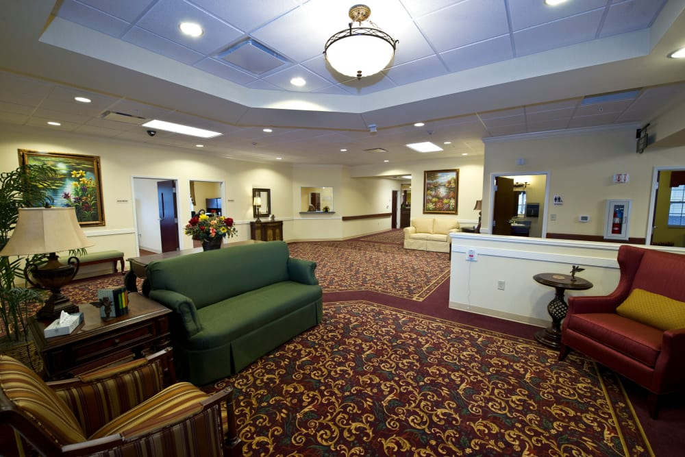 Lobby at Village Green Health Campus in Greenville, Ohio