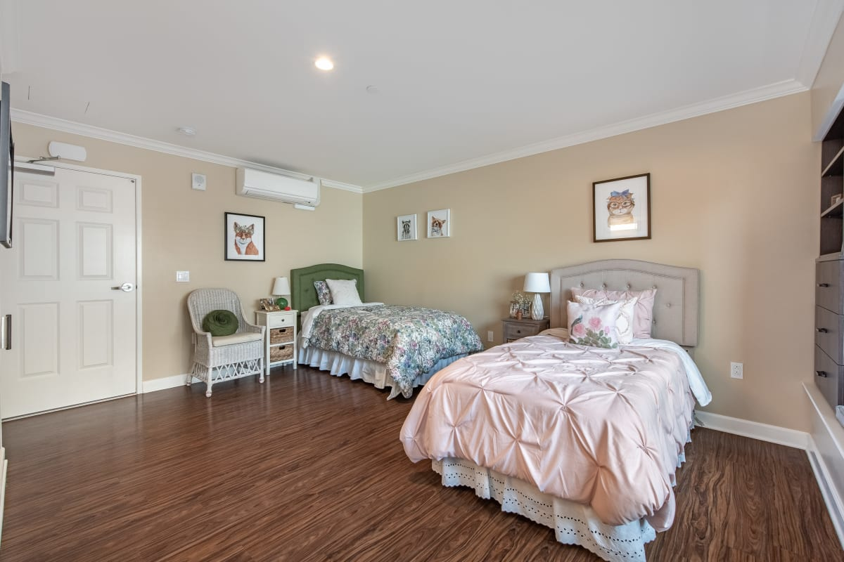 Well-lit bedroom at Regency Palms Oxnard in Oxnard, California