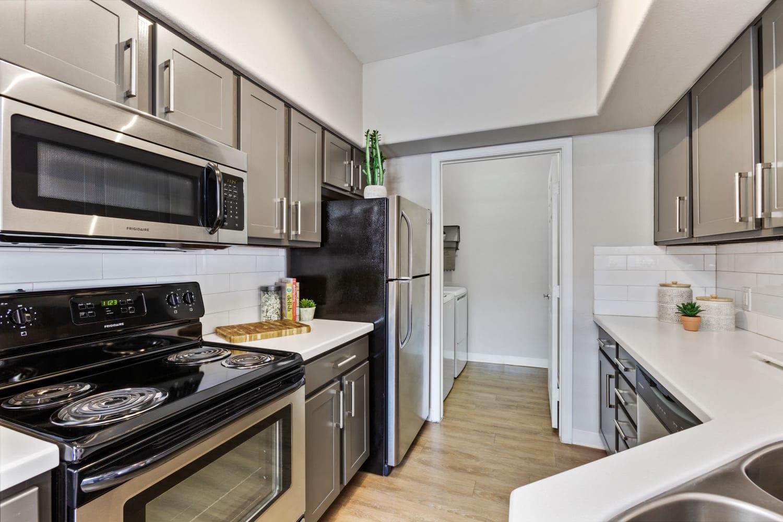 Modern kitchen at Sonoran Vista Apartments in Scottsdale, Arizona