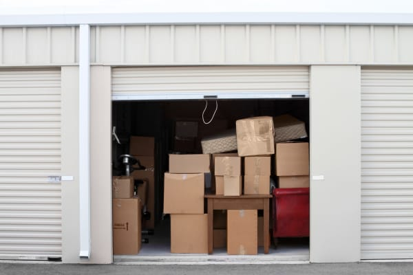 A full storage unit at a San Diego Self Storage location