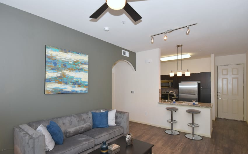 Hardwood floors at Midtown Grove Apartments