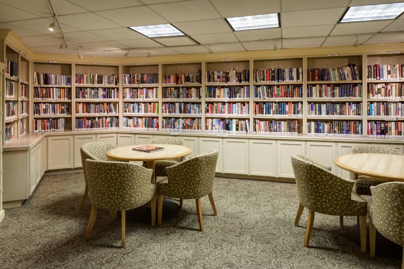 Spacious library at The Montera in La Mesa, California