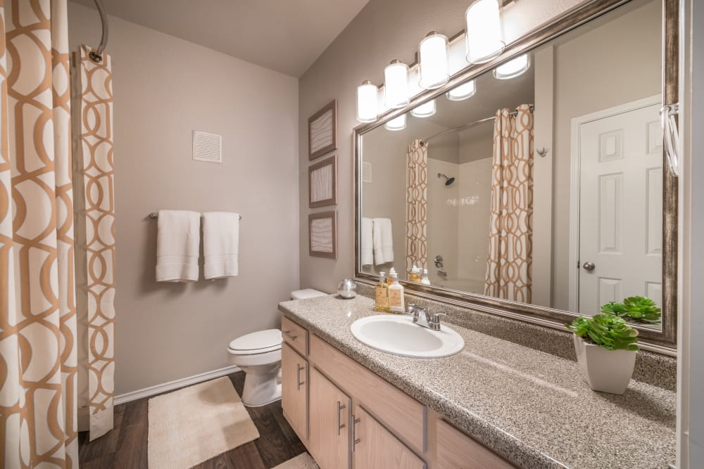 Ample bathroom at 23Hundred at Ridgeview in Plano, Texas