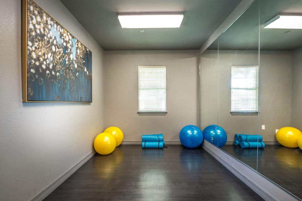 23Hundred at Ridgeview offers a yoga room in Plano, Texas