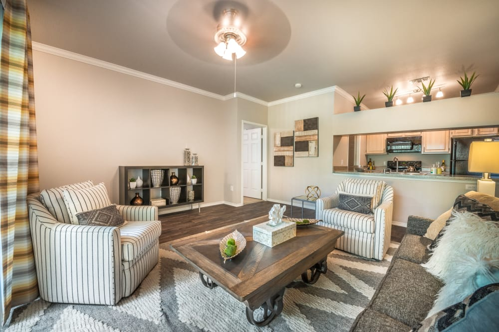 Beautiful livign room at 23Hundred at Ridgeview in Plano, Texas