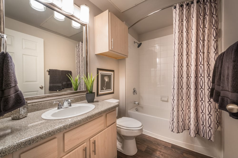 23Hundred at Ridgeview offers a spacious bathroom in Plano, Texas