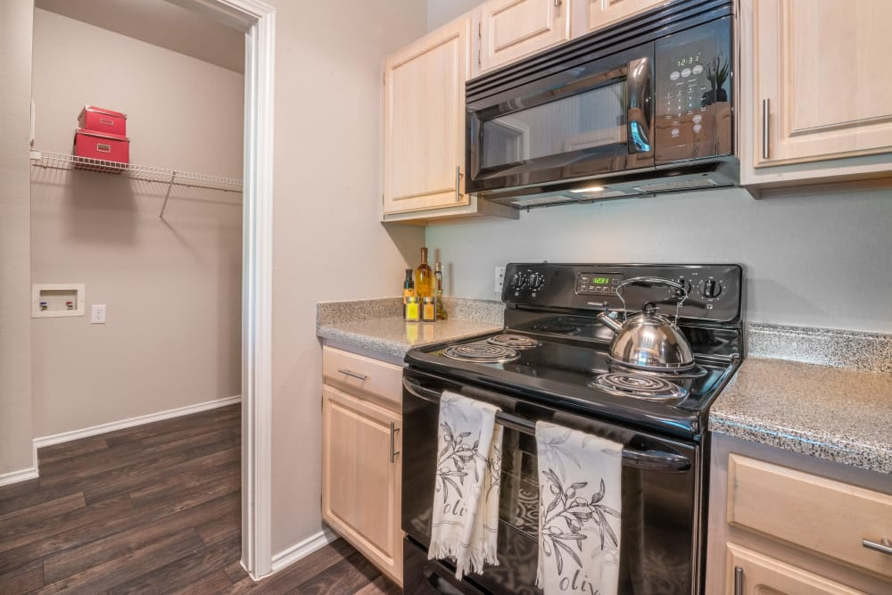 Well-equipped kitchen at 23Hundred at Ridgeview in Plano, Texas