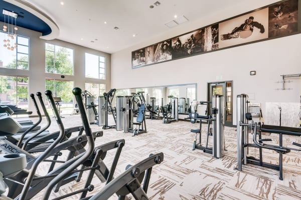 State of the art fitness center is just one of the amenities offered at Solana Cherry Creek
