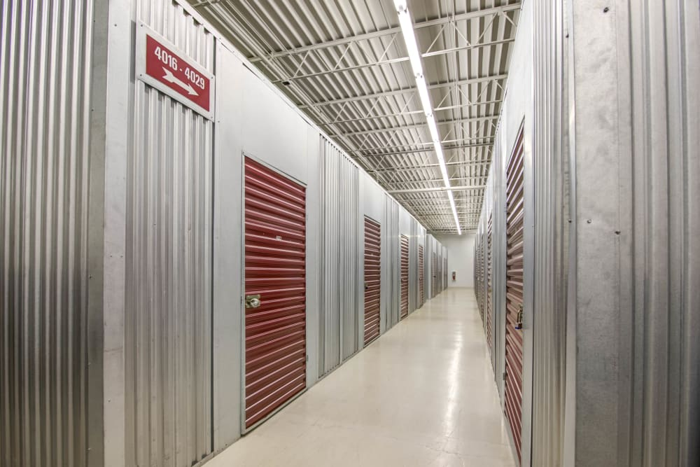 Indoor units hallway at Metro Self Storage in Eden Prairie, Minnesota