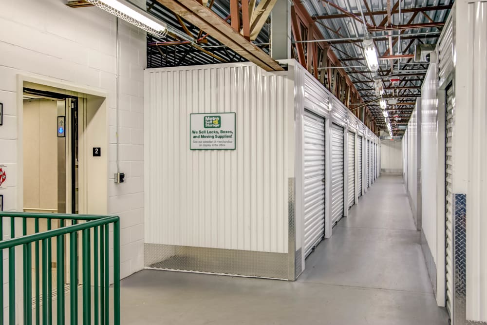 Indoor units hallway at Metro Self Storage in Maple Grove, Minnesota