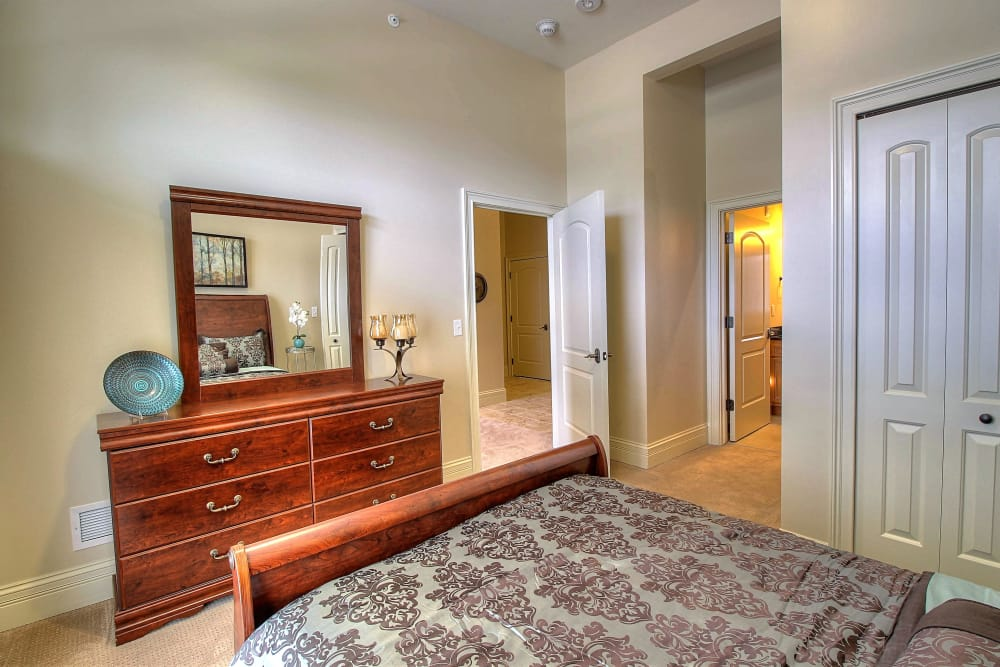 Cozy bedroom at Tranquility Estates in Grand Blanc, Michigan