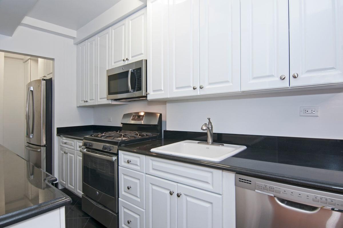 Beautiful luxury kitchen at London Terrace Gardens in New York, New York
