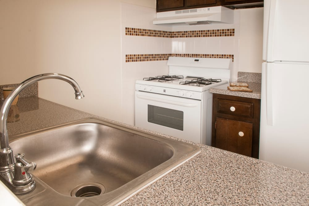 White stove at Pine Ridge in Lindenwold, New Jersey
