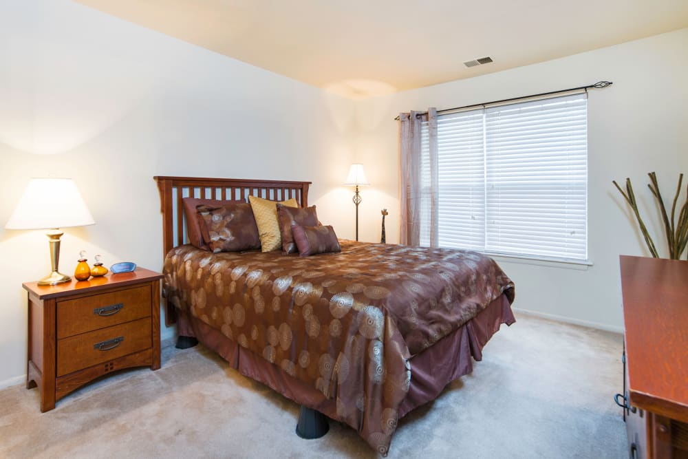 Bedroom at apartments in Midlothian, Virginia