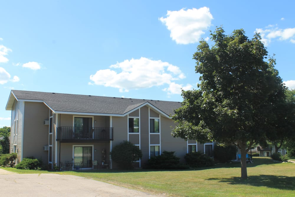 Individual Garages at Parquelynn Village Apartments in Nashotah, WI