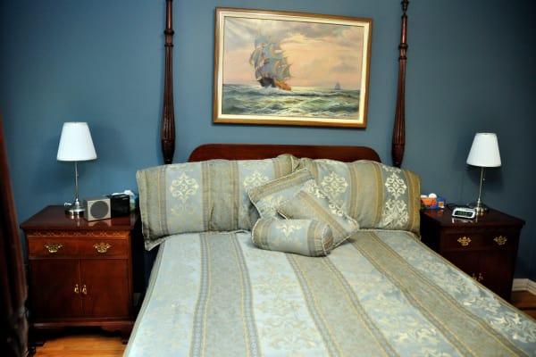 Beautiful bedroom at Georgian Court Estates in Burlington, Ontario