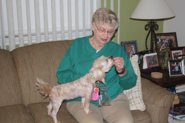 Your pet is welcome to join you at Regency Park Senior Living, Inc.