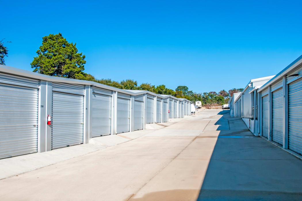 Exterior storage units at Lockaway Storage in Boerne, Texas
