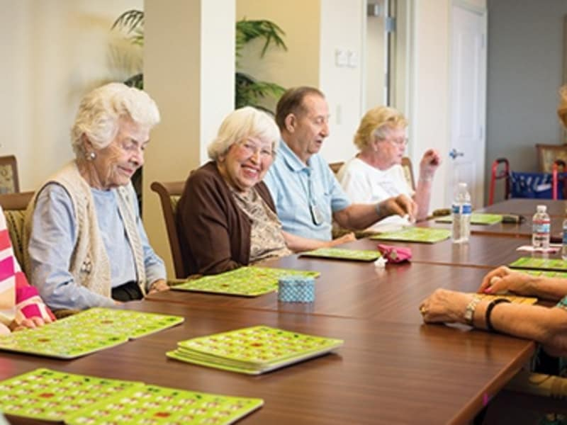 Entertainment activities at senior living community in Powell, OH