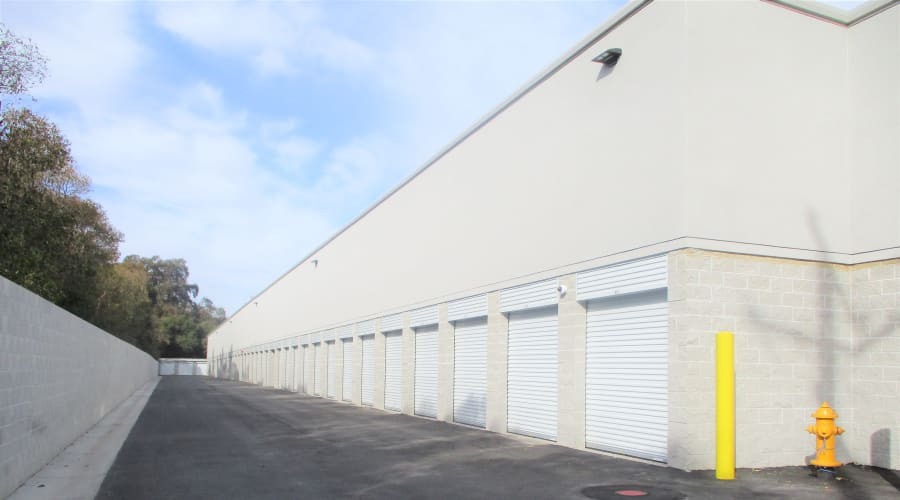 Exterior of units at First Rate Storage in Stockton, California
