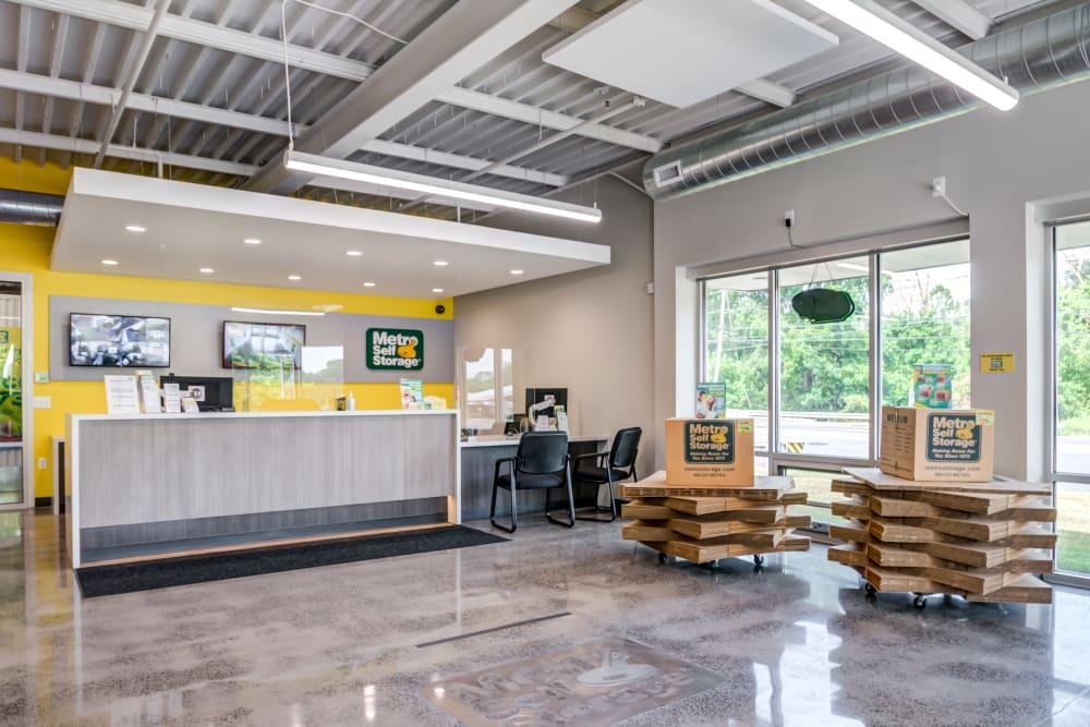 Leasing office at Metro Self Storage in Doylestown