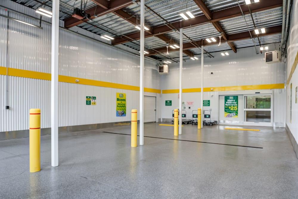 Interior of storage facility at Metro Self Storage in Doylestown