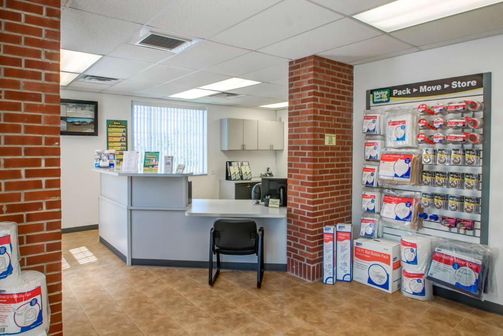Office reception at Metro Self Storage in Limerick, Pennsylvania