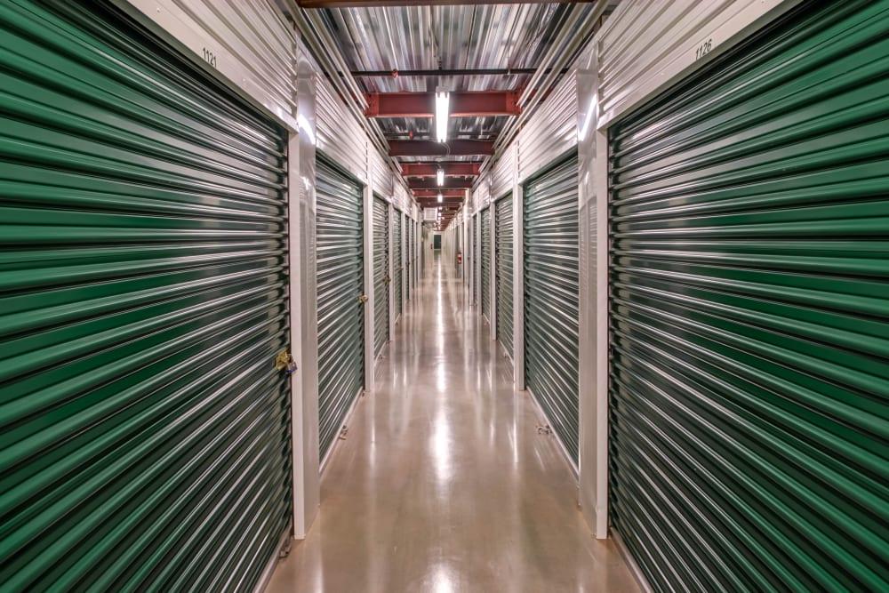 Indoors units hallway at Metro Self Storage in Limerick, Pennsylvania