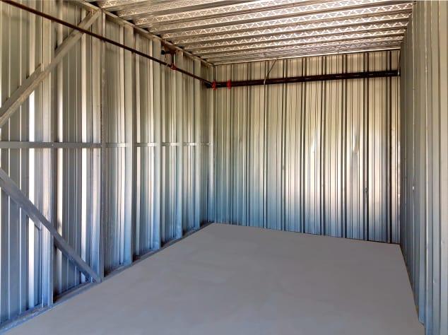 Interior of a storage unit at Prime Storage in Centereach, New York