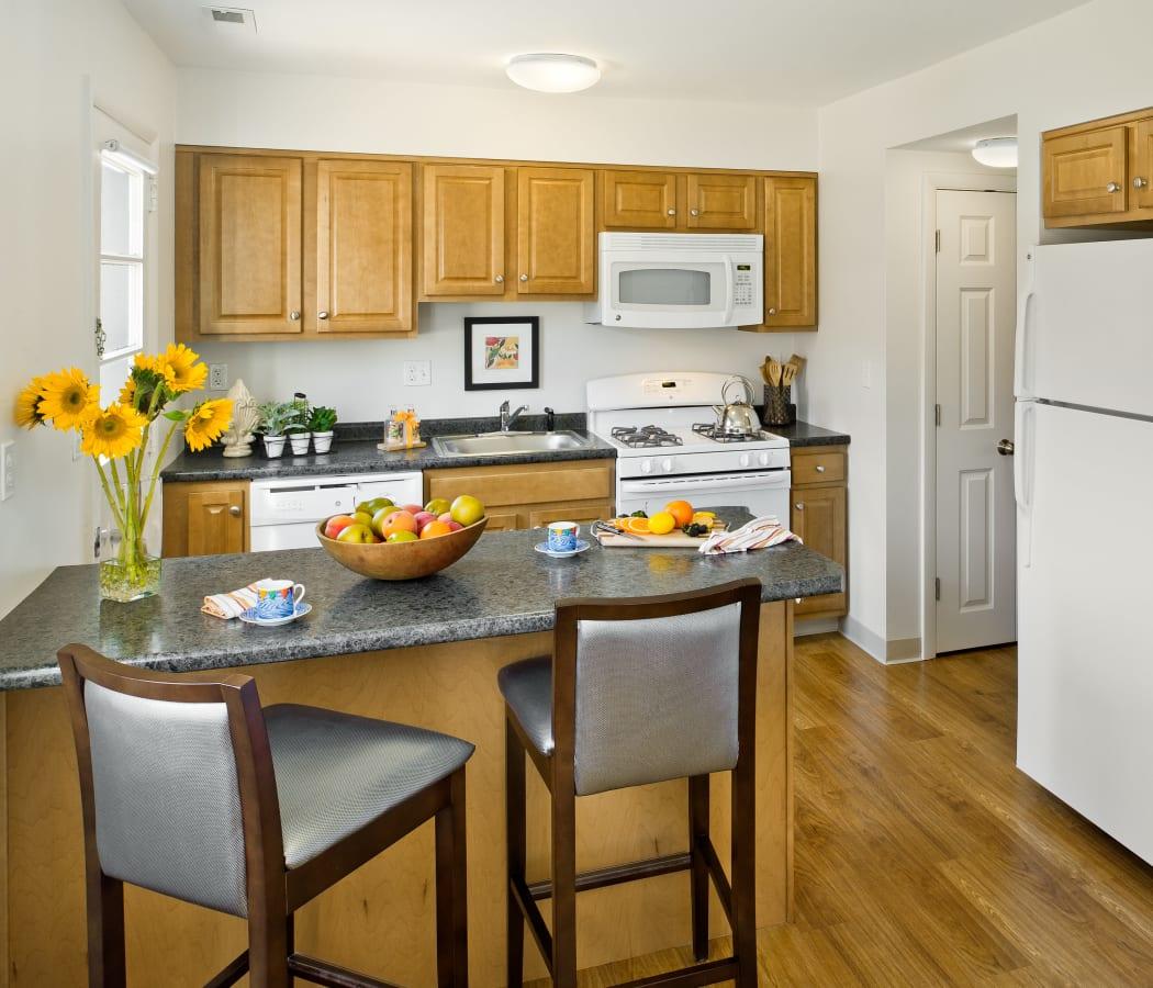 Kitchen at The Fairways in Worcester, Massachusetts