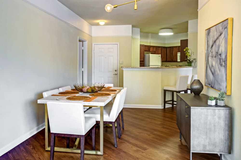 Kitchen and dining area at Provenza at Southwood in Tallahassee, Florida