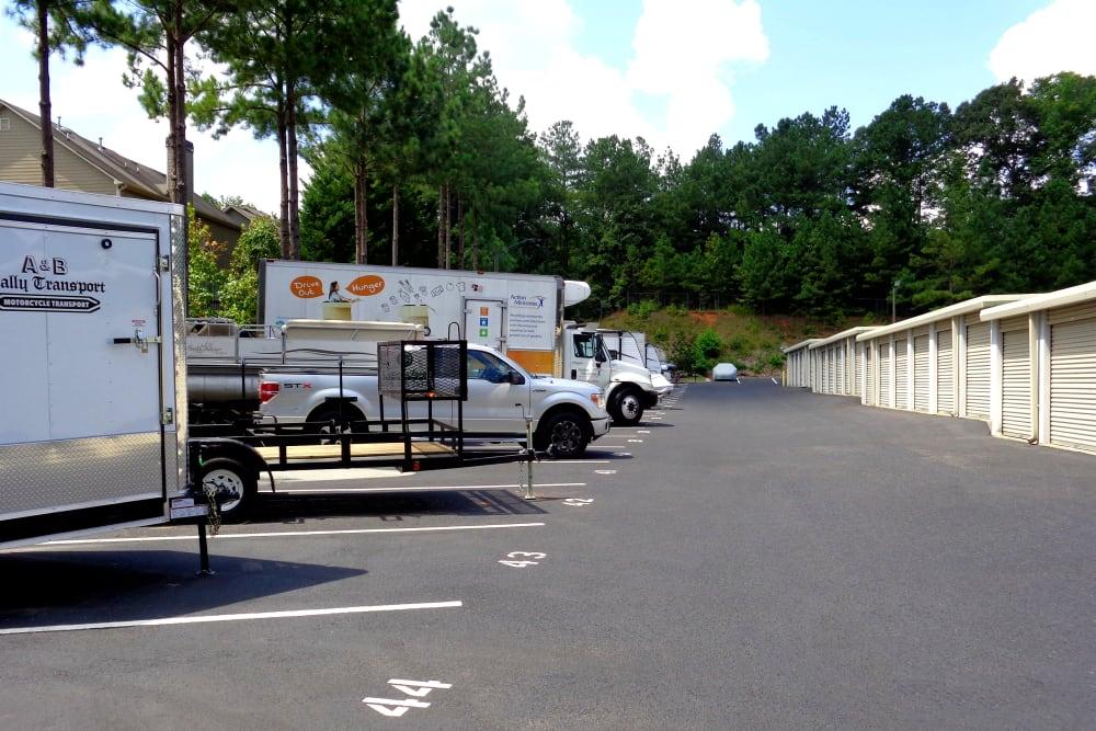 Additional parking at Prime Storage in Dallas, Georgia