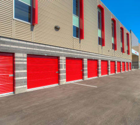 Outside units at StorQuest Express - Self Service Storage in Sacramento, California