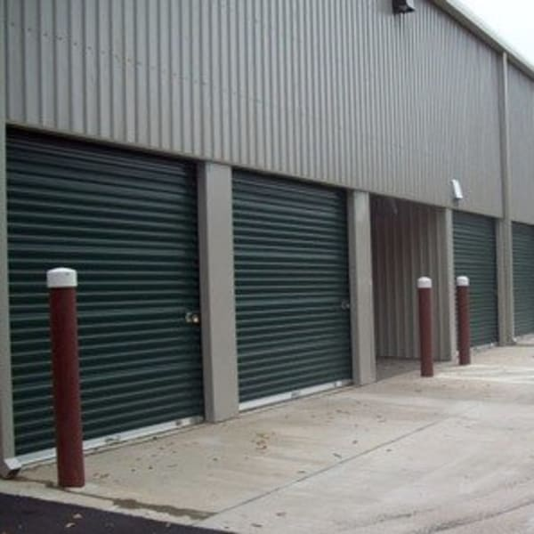 Outdoor storage units with drive-up access at StorQuest Self Storage in Tallahassee, Florida