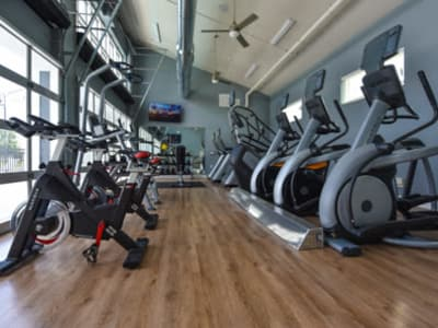 Fitness center at Springs at Lakeline in Austin