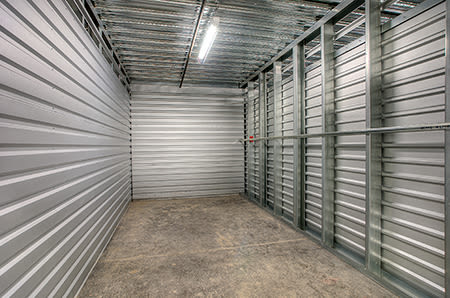 Inside of a storage unit at StorQuest Self Storage in Tigard, Oregon