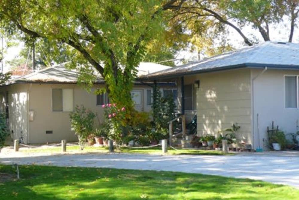 Exterior of the apartments at Walnut Avenue Apartments in Sacramento, California