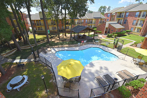 Swimming pool at Park at Deerbrook Apartments in Humble, TX