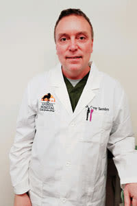 Dr. Corey Saunders at The Animal Hospital on the Golden Strip in Williamsport, Pennsylvania