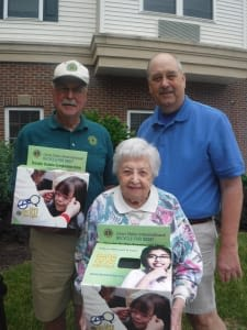 Arbour Square of Harleysville in Harleysville, Pennsylvania, donates to the Lions Club International Recycle for Sight