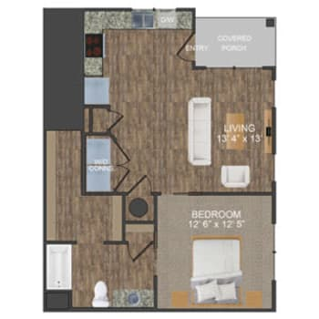 Hunter I floor plan at Callio Properties in Chattanooga, Tennessee