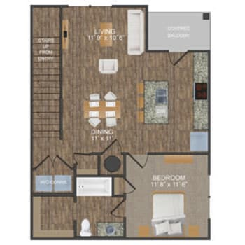 Hunter II floor plan at Callio Properties in Chattanooga, Tennessee