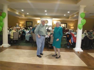 Seniors dancing on the dance floor at Arbour Square of Harleysville in Harleysville, Pennsylvania